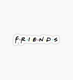 Friends tv show Stickers Stickers Printable, Meme Stickers, Phone Stickers, Cool Stickers, Macbook Stickers, The Office Stickers, Brand Stickers, Black And White Stickers, Bubble Stickers