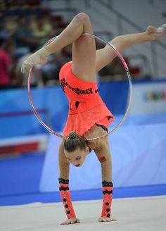 Melintina Staniouta (BLR) competes with hoop during the 2013 Universiade in Kazan, Russia.    Via RIA Novosti