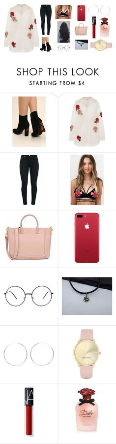 """Red Roses"" by vanessastarrr ❤ liked on Polyvore featuring Wild Diva, Ashish, Nine West, Dolce&Gabbana, black, red, RedRoses, iphone and roses"