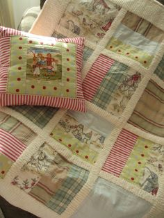baby blanket play mat quilt french circus by nanacompany on Etsy. Chenille sashing gives it more dimension Quilting Tutorials, Quilting Projects, Quilting Designs, Sewing Projects, Crazy Quilting, Chenille Quilt, Small Quilts, Baby Crafts, Baby Sewing