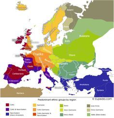 Maps on the Web: Photo / My ancestry is all shades of yellow, orange, red, no purples, blues, greens, browns.