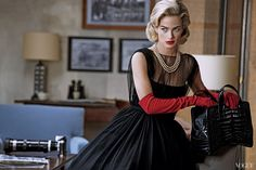 April '13 photo: Peter Lindbergh model :Tobey Maguire model2: Carolyn Murphy fashion editor: Grace Coddington