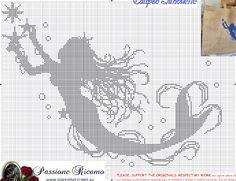 Free Mermaid cross stitch pattern #stitching #people