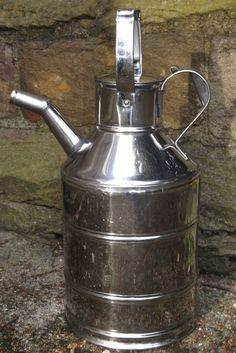 Vintage WM Murdoch Tinsmith Elgin-Showman's Stainless Steel Water can -No 2