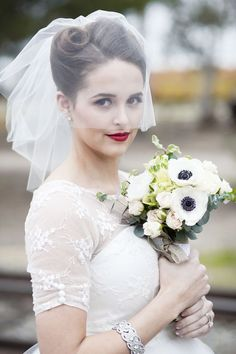 ideas for beautiful bridal veil and wedding hairstyle combinations | itakeyou.co.uk