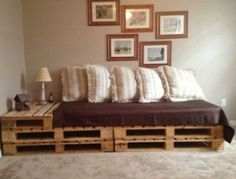 Furniture made of pallets