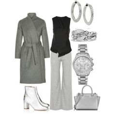 Monochrome Outfit #Office Style #Casual Outfits