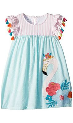 flamingo dress with tassels for summer #toddler #summer #affiliate