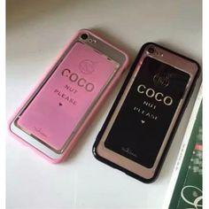 Chanel coco iPhone7/7 plus ソフトケース シリコン シャネル 薄い iPhone6s plusカバー ピンク 黒 お揃いブランドカバー