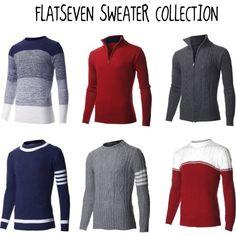 """FLATSEVEN SWEATER COLLECTION""  #FLATSEVENSHOP.COM #men #fashion"