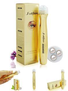 [Visit to Buy] Fulljion Gold Roll Ball on Eye Cream Anti Aging Dark Circle Essence Crystal Collagen Remove wrinkles activating eye cream 10ml #Advertisement