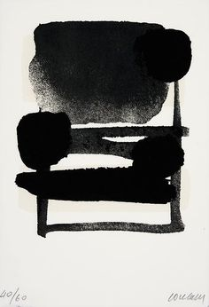 Gacougnol: Pierre Soulages Serigraphie N° 6 Screen printing in Black & Beige on rag paper. Action Painting, Painting & Drawing, Fabric Painting, Arte Yin Yang, White Art, Black And White, Modern Art, Contemporary Art, Art Pierre