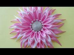 DIY Crafts : How to Make Beautiful Kanzashi Satin Ribbon Flower   DIY Girls Hair…