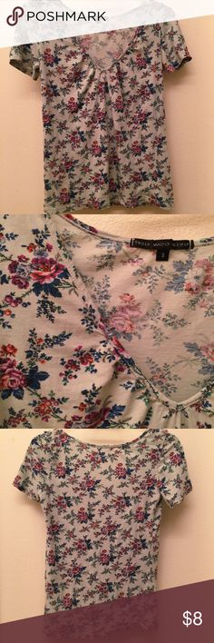 Light Blue Floral Shirt from Urban Outfitters Size Small. Light blue with purple and magenta roses blooming from it. Beautiful and vivid colors. Worn only once! Purchased from Urban Outfitters, made by Truly Madly Deeply. Perfect Condition. 💐 Urban Outfitters Tops Tees - Short Sleeve