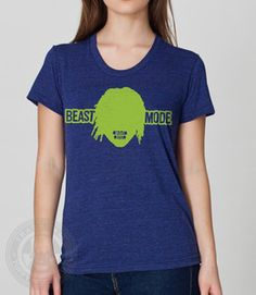 Beast Mode Seattle Seahawks Football Marshawn Lynch Women s AA T Shirt 58b317ae9