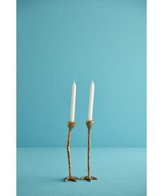 Long Legs (Candle Holders) Gold designed by Jasmin Djerzic made in Netherlands as part of Easter and Gifts and Home Accessories and Home Decor and Candles & Candleholders tagged Artisanal Design and Bol and Hipvan and Dutch design and Designed to make you smile - image 1 on CROWDYHOSUE