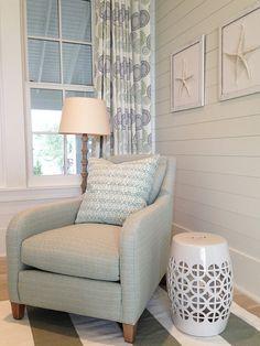 Coastal Bedroom Sitting Area. Coastal Bedroom. Coastal Bedroom Sitting Area Ideas. #CoastalBedroom #SittingArea Meredith McBrearthy.
