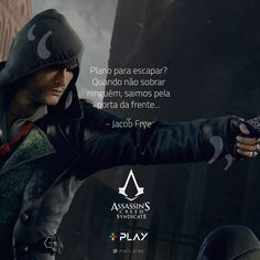 6 frases do game Assassin's Creed Syndicate Assassins Creed, Nerd, Malcolm X, Bnf, Sad Girl, Song Quotes, Inner Child, Like A Boss, Feeling Happy