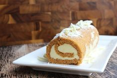 Chocoholic: Pumpkin Roll with White Chocolate Cream Cheese | Serious Eats: Sweets