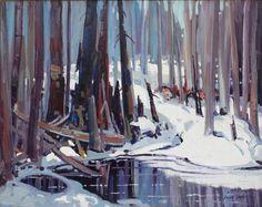 Group Of Seven, Pastel, Bruno, Winter Landscape, Landscapes, Illustrations, Abstract, Artwork, Paint