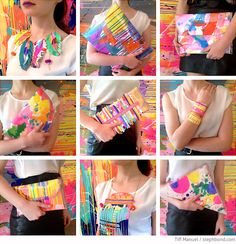 Bondville: Tiff Manuell art clutches and bags