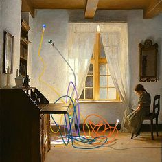 Lámparas de Catalina D'Anglade. Colección Secundino Hernández. Collages, Painting, Art, Art Background, Collagen, Painting Art, Kunst, Paintings, Performing Arts