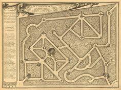Gabriel Perelle (1604-1677) – Plans de Versailles, le Labyrinthe