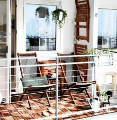 Urban Balcony Garden Ideas from Ikea
