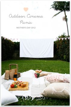 DIY: Mother's Day Outdoor Cinema Picnic.  LOVE this idea!!