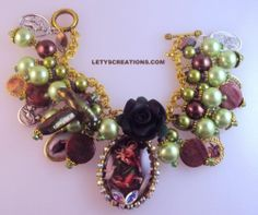 """Virgin Mary """"Queen of The Holy Rosary"""" Saints Religious Medals Charm Bracelet 