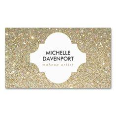 1210 best glitter sparkle business cards images on pinterest gold glitter beauty makeup artist salon business card colourmoves