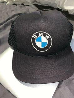 5d220be6b58 VTG BMW Trucker Hat Black Snapback Vintage Cars German Logo Rare Mesh  Trucks  fashion