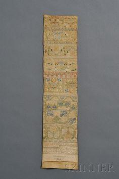 Needlework Band Pattern Sampler | Sale Number 2460, Lot Number 240 | Skinner Auctioneers