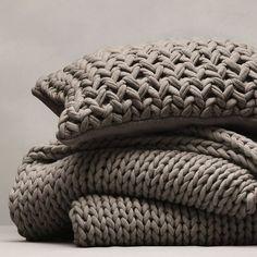 mantas tejidas con dos agujas lana gruesa - Buscar con Google