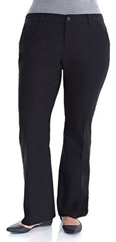85fe099174325 Fashion Bug Women Plus Size Slim Flare Millennium Pants www.fashionbug.us   PlusSize