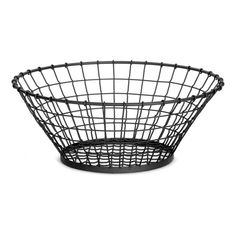 "Tablecraft 21"" X 8"" Round Basket, Metal, Black GM21"