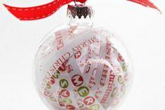 Boule de Noël papier  © Boule Noël