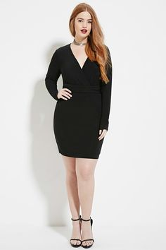 Plus Size Surplice Dress | FOREVER 21 created by #ShoppingIS