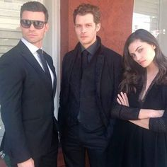 Joseph Morgan, Phoebe Tonkin, & Daniel Gillies onset of The Originals
