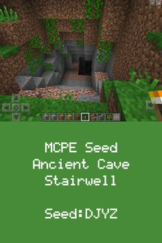 MCPE Jungle Seed: Staircase to Underground Waterfall 0.14 0.15 0.16+