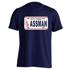 ASSMAN.  Avail in Mens T-shirts, Womens T-shirts, Tank Tops, & Sweatshirts. Get it Today @ DonkeyTees.com w/ FREE SHIPPING using code: PINNING at checkout.