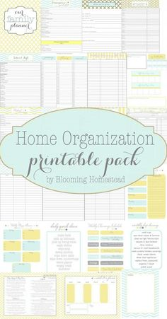 Home Organizational Printables