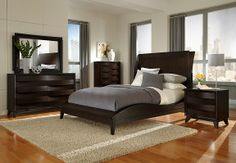 We love this curvy and new modern bedroom!! #NewArrival