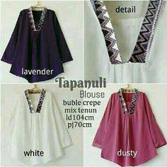 Baju Atasan Kombi Tenun Tapanuli Blouse Online - https://www.butikjingga.com/baju-atasan-polos-mix-tenun-tapanuli-blouse