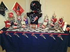 Houston Texans Candy Table by Candy Couture