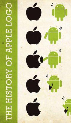 E assim, foi criado o logo da Apple! rs