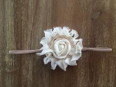 Cream and Nude Headband Cream baby headband by Thelittlearrowshop