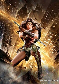 Gal Gadot Wonder Woman by Jeff Van Schkijaar