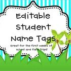 This purchase is for a set of editable tags that can be used during the first few weeks of school or as field trip tags! A great tool for any teach...