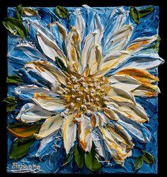 """Good Morning Sunshine"" - an impasto painting"